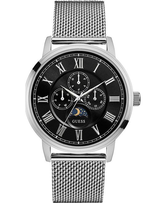 GUESS Dressy Men's Stainless Steel Watch 44mm