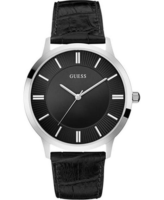 dong ho GUESS Dressy Silver-Tone Men's Watch 43mm