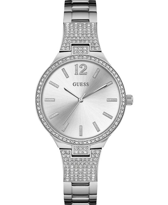GUESS Dressy Silver-Tone Watch 35mm