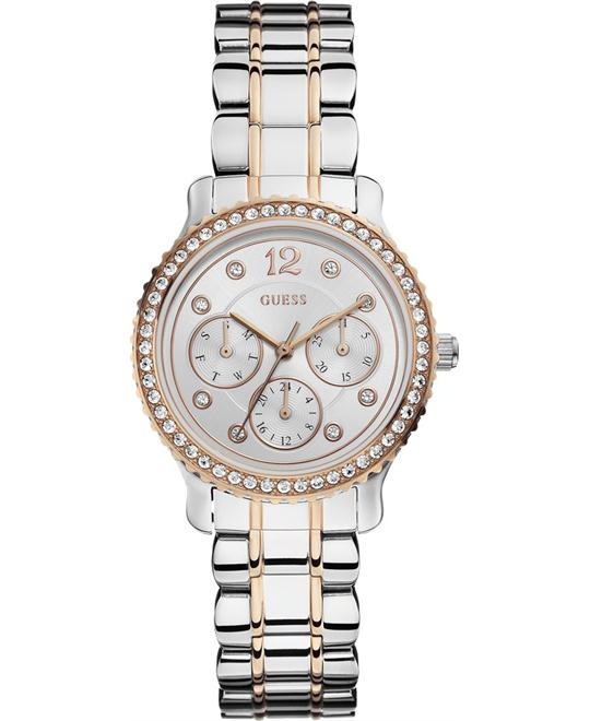 GUESS Enchanting Silver Dial Ladies Watch 35mm