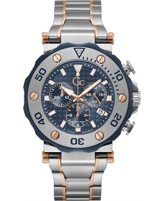 Guess Gc Divercode Chrono Metal Watch 44mm