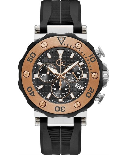 Guess Gc Divercode Chrono Silicone 44mm