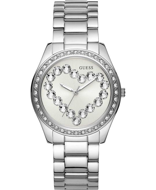 GUESS Heart Crystal Watch 39mm