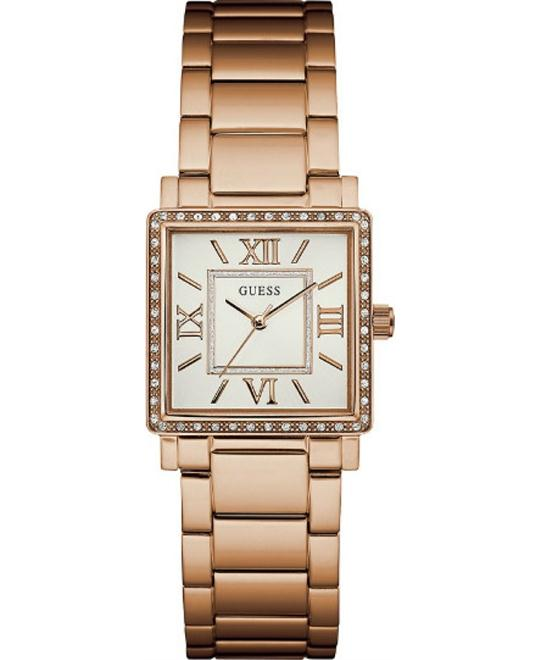 GUESS Ladies Dress Rose Gold-Tone Watch 28mm