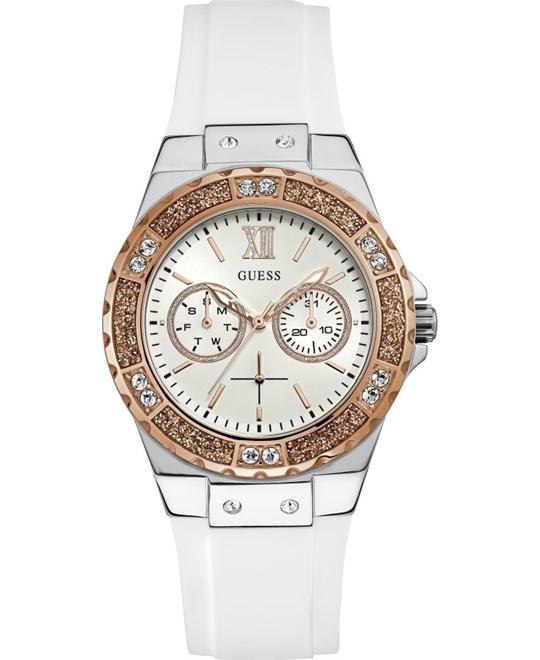 Guess Limelight Crystal White Dial Ladies Watch 39mm