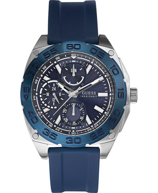 GUESS Chronograph Silicone Men's Watch 46mm