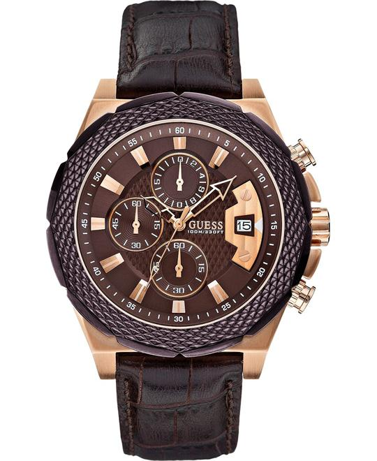 GUESS Men's Chronograph Croco 46mm