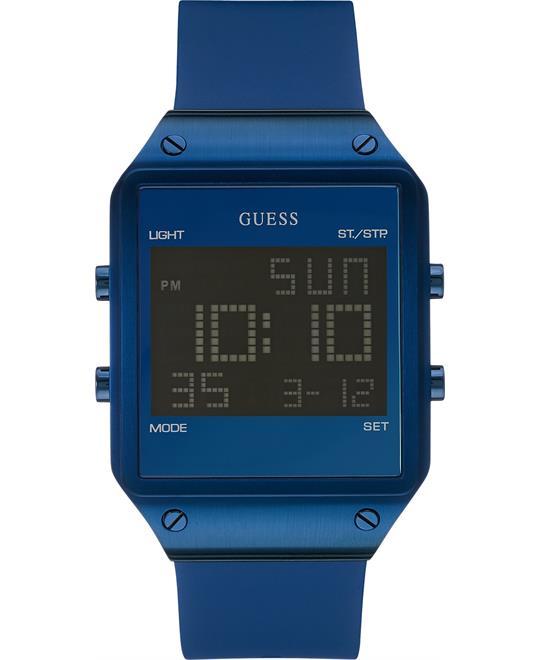 đồng hồ digital GUESS Digital Alarm Chronograph Watch Men's 55mm