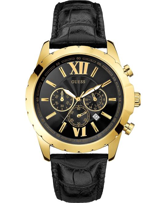 GUESS Classic Black Chronograph Men's Watch 45mm