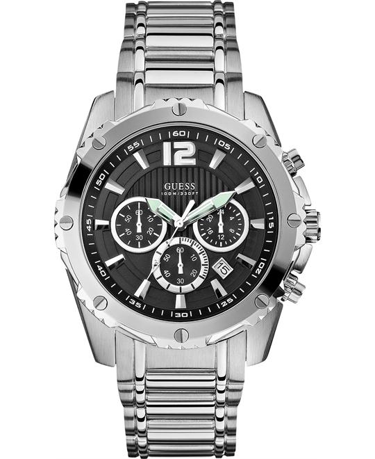 GUESS Chronograph Men's Stainless 46mm