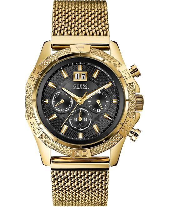GUESS Pouch Mesh Chronograph Watch 45mm