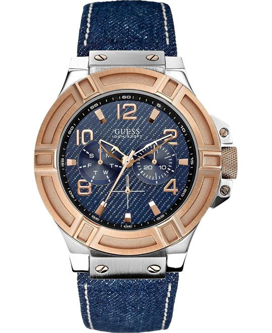 "đồng hồ Guess ""Gunmetal Rigor"" Men's Watch 45mm"