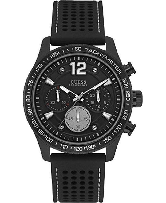 Guess Perforated Silicone Casual Watch 44mm