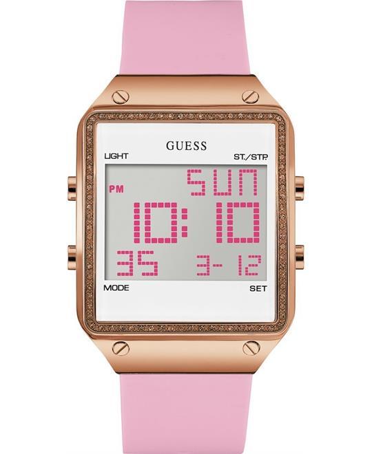 đồng hồ nữ Guess Pink Sleek Digital Fashion Watch 55mm