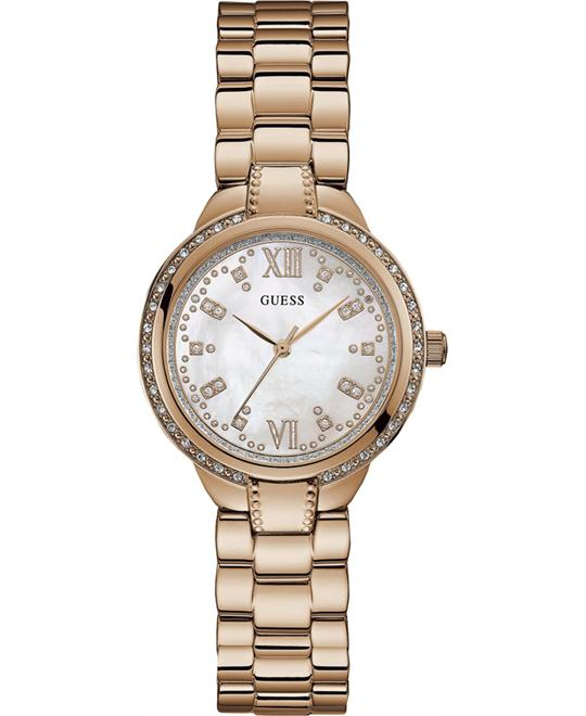 Guess Rose-Gold Stainless-Steel Quartz Watch 34mm