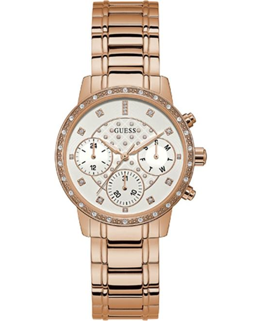 Guess Rose-Gold Stainless-Steel Quartz Watch 37mm