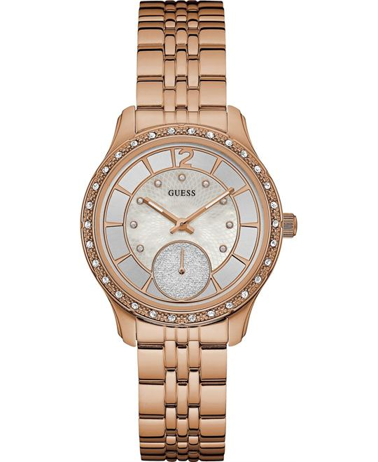 Guess Rose-Gold Stainless-Steel Women's Watch 35mm