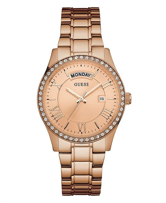 Guess Rose Gold-Tone Dress Watch 37mm