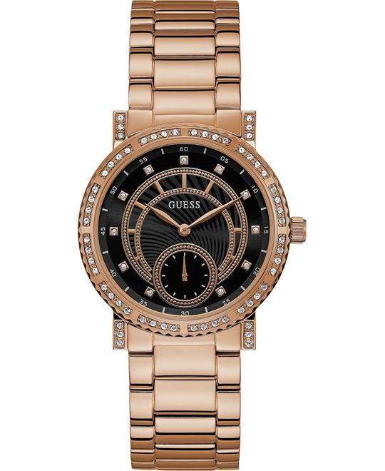 GUESS Rose Gold-Tone Stainless Steel Watch 38mm