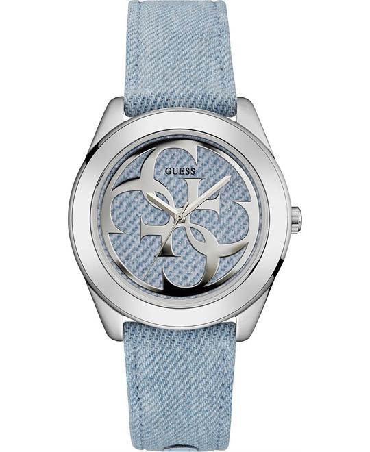 Guess Silver-Tone Twist Logo Women's Watch 39mm