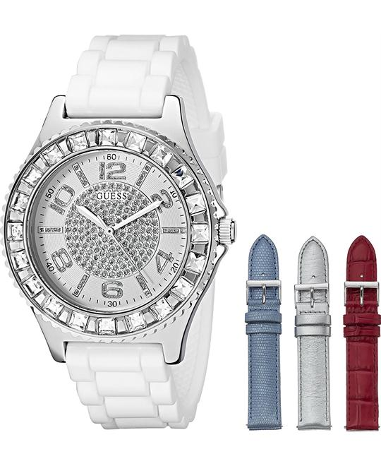 GUESS Silver-Tone Watch Set 39.5mm