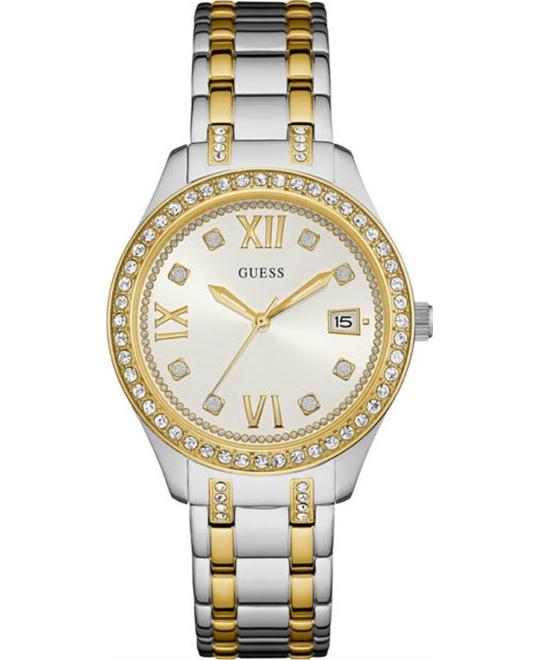 GUESS Stainless Steel Crystal Accented Bracelet Watch 38mm
