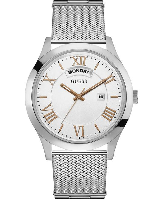 GUESS Stainless Steel Mesh Bracelet Watch 44mm