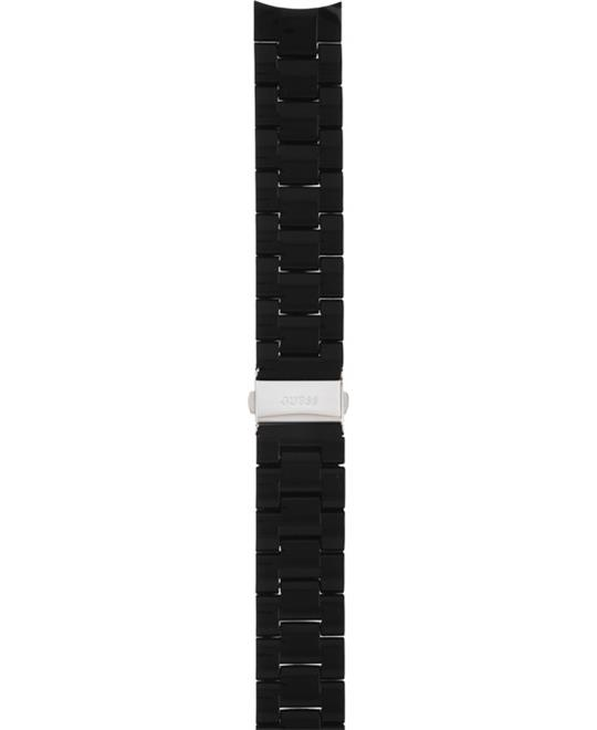 Guess Strap Black Silicone Wrapped Steel 20mm
