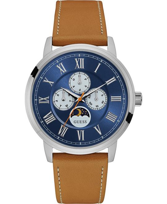 Guess Tan  Blue Multifunction Dial Watch 44mm