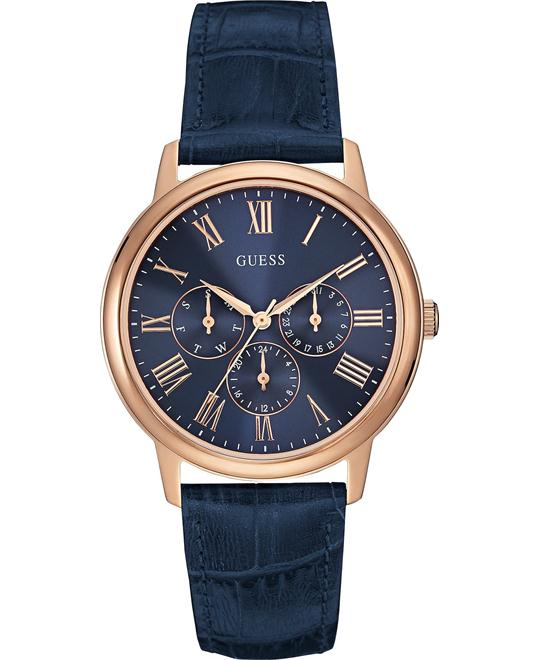 GUESS Unisex Rose Gold and Navy Watch 40mm