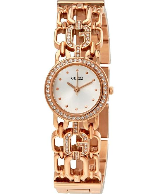 Guess White Dial Ladies Chain Watch 22.5mm