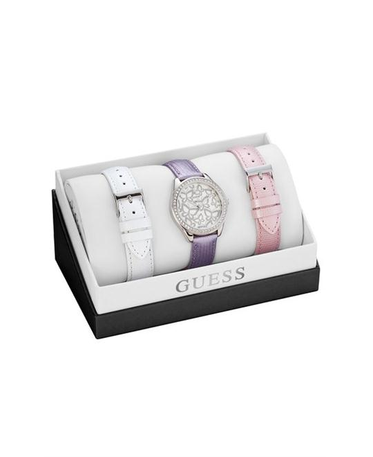 GUESS Women's in White, Pink & Lilac 36mm