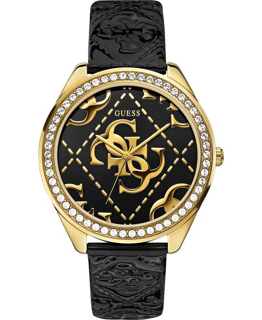 GUESS Logo-Embossed Patent Women's Watch 44mm