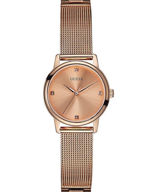 GUESS Women's Rose Gold-Tone Watch 28mm