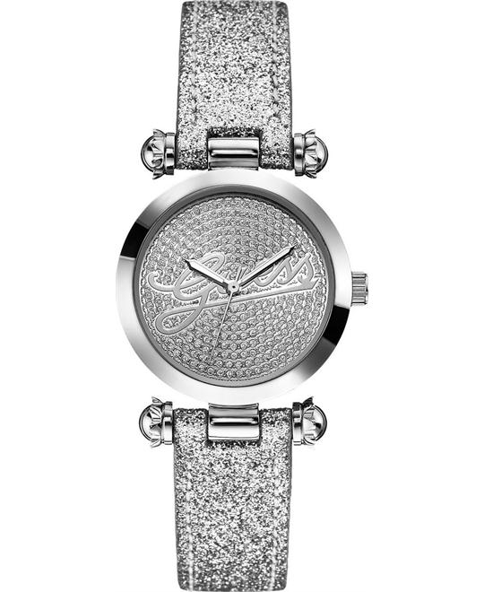 GUESS GLITTER SILVER SHINE SEXY LADIE'S WATCH 32mm