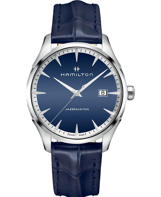 đồng hồ HAMILTON Jazzmaster Blue Leather Watch 40mm