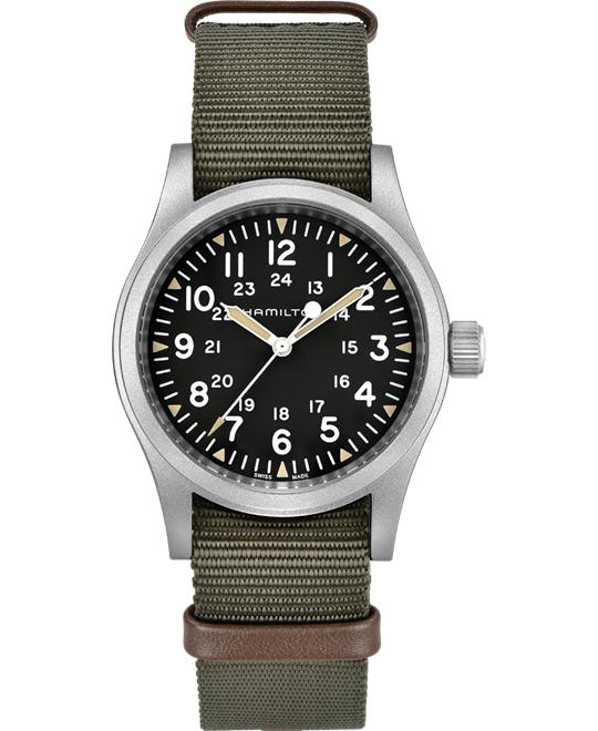 Hamilton Khaki Field Black Dial Hand Wound 38mm
