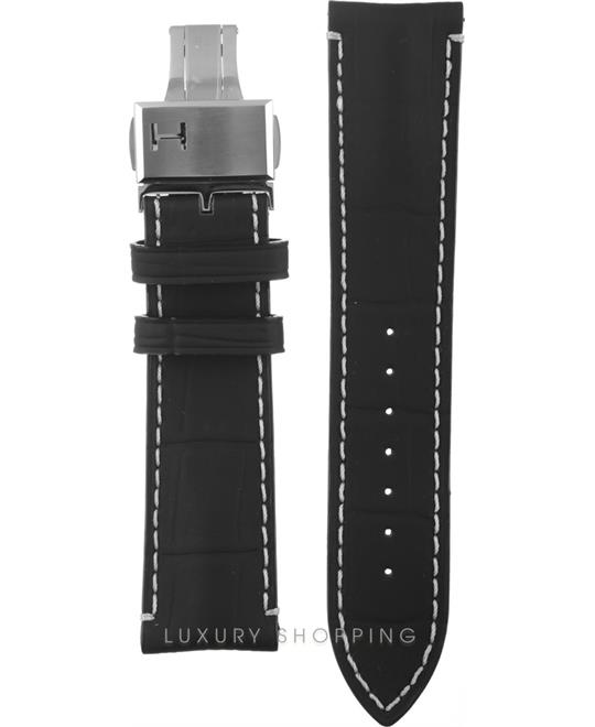 Hamilton Railroad Black Leather Strap 22/20