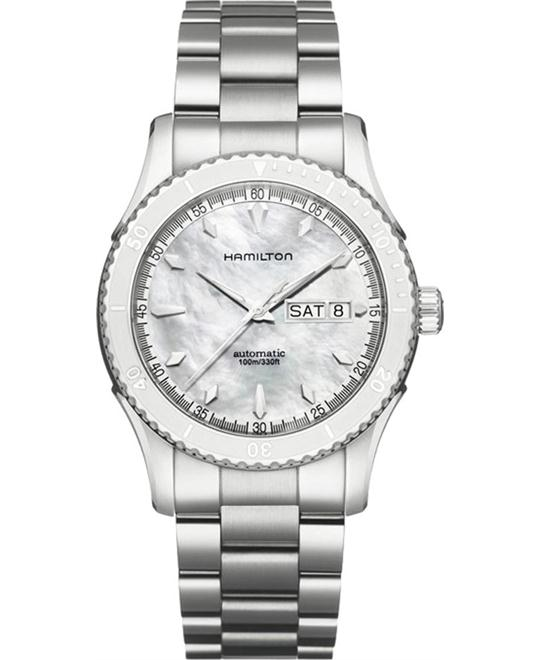 Hamilton Seaview Day Date Mother-Of-Pearl Dial Watch 42mm