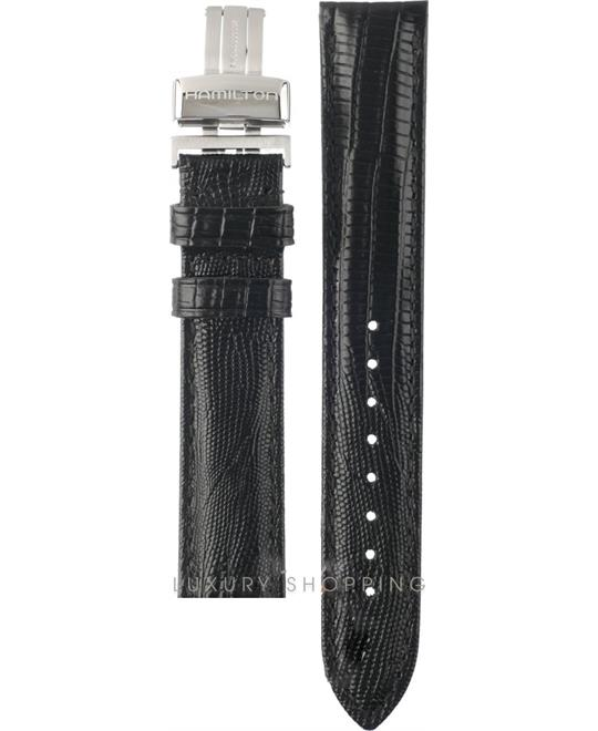 Hamilton Ventura Black Leather Strap 17/16