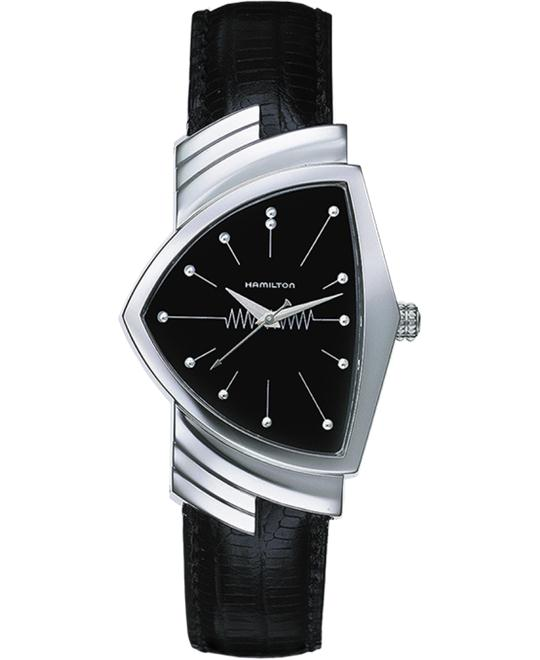 HAMILTON Ventura Black Unisex Watch 38 x 33mm