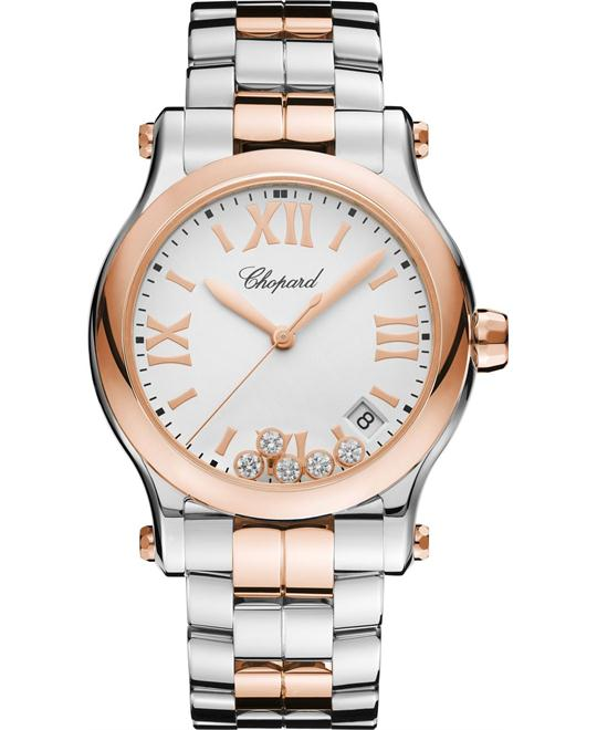 HAPPY SPORT 278582-6002 18K ROSE GOLD AND DIAMONDS 36MM