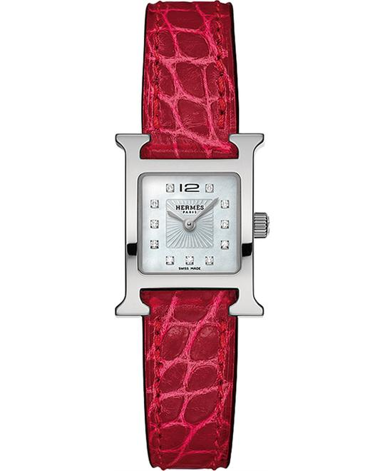 đồng hồ Hermes H Hour 036746WW00 Small PM Watch 21x21mm