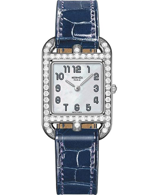 Hermes Cape Cod 043609ww00 Small PM Watch 23mm