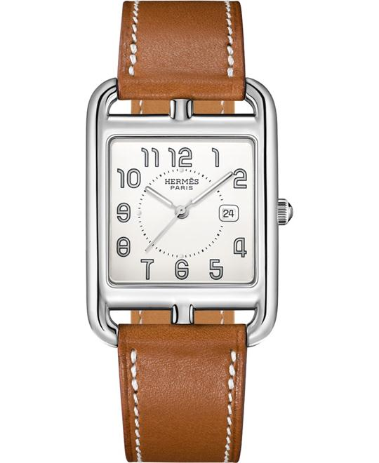 Hermes Cape Cod 043638ww00 Medium GM Watch 29mm