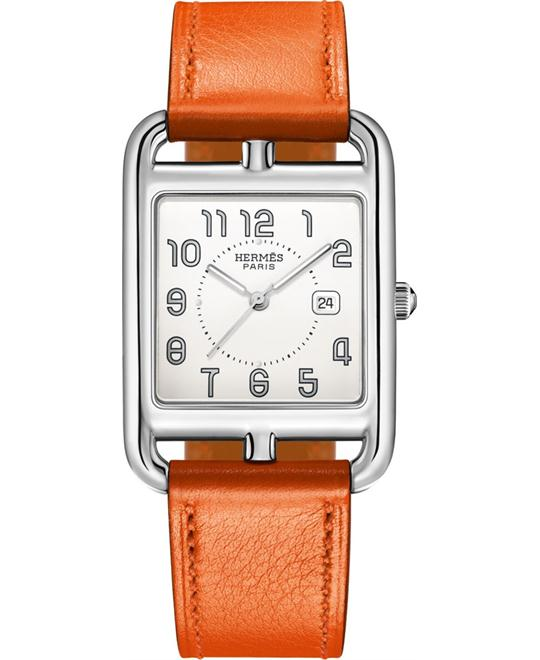 Hermes Cape Cod 043642ww00 Medium GM Watch 29mm
