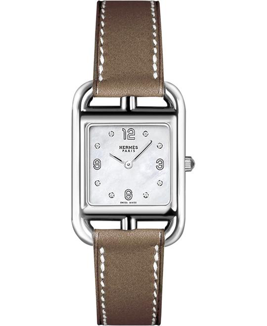 Hermes Cape Cod 044294ww00 Small PM Watch 23mm