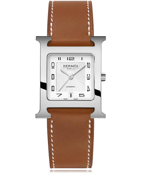 Hermes H Hour 034631ww00 Automatic Medium MM 26.4mm