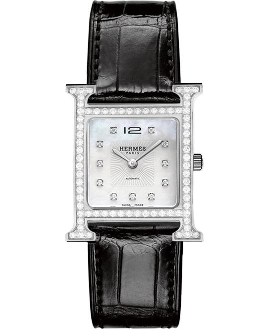 Hermes H Hour 039918ww00 Automatic Medium 26.4mm