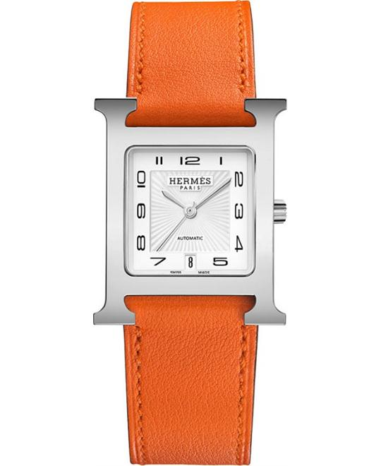 Hermes H Hour 039924ww00 Automatic Medium MM 26.4mm